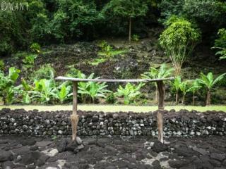 Table de sacrifice au Marae Arahurahu de Tahiti
