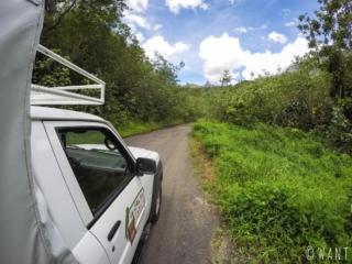Vue depuis notre pick-up, durant notre journée dans la vallée de la Papenoo à Tahiti