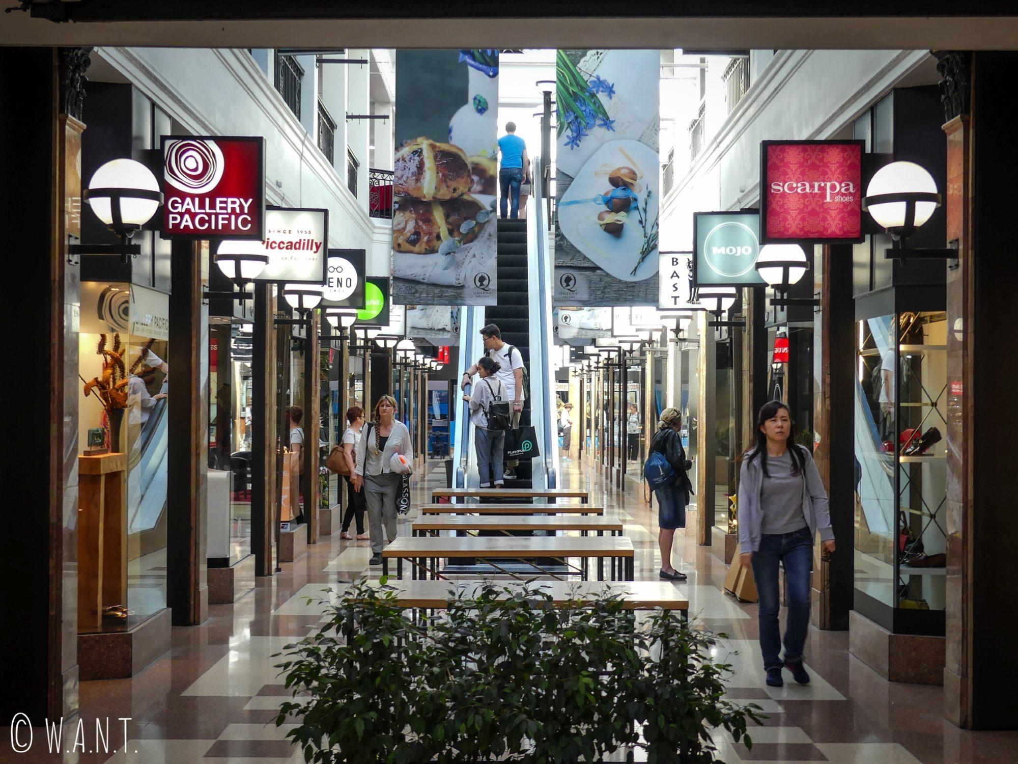 Galerie marchande dans le coeur d'Auckland
