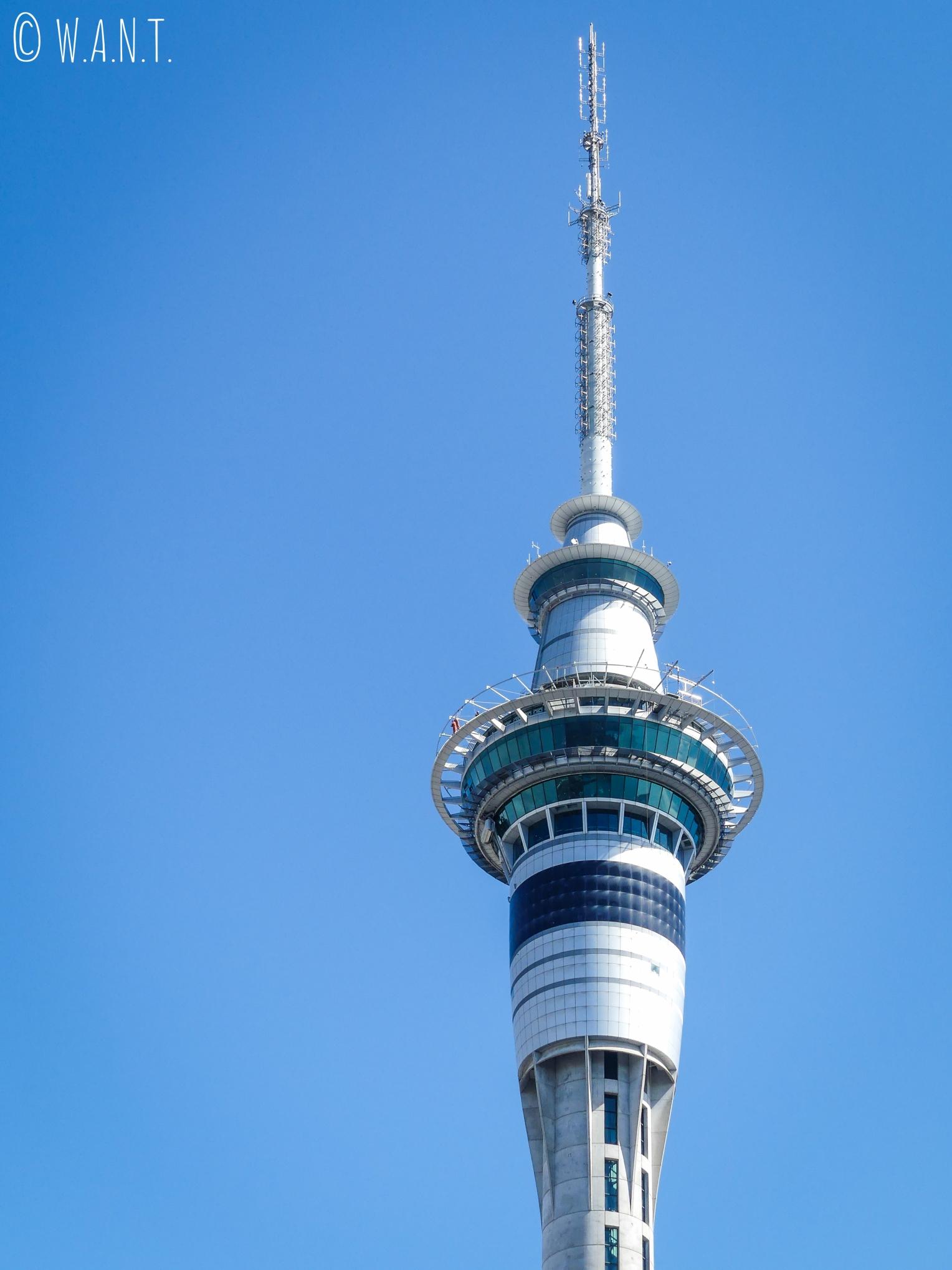 La Sky Tower d'Auckland, tour la plus haute de l'hémisphère sud