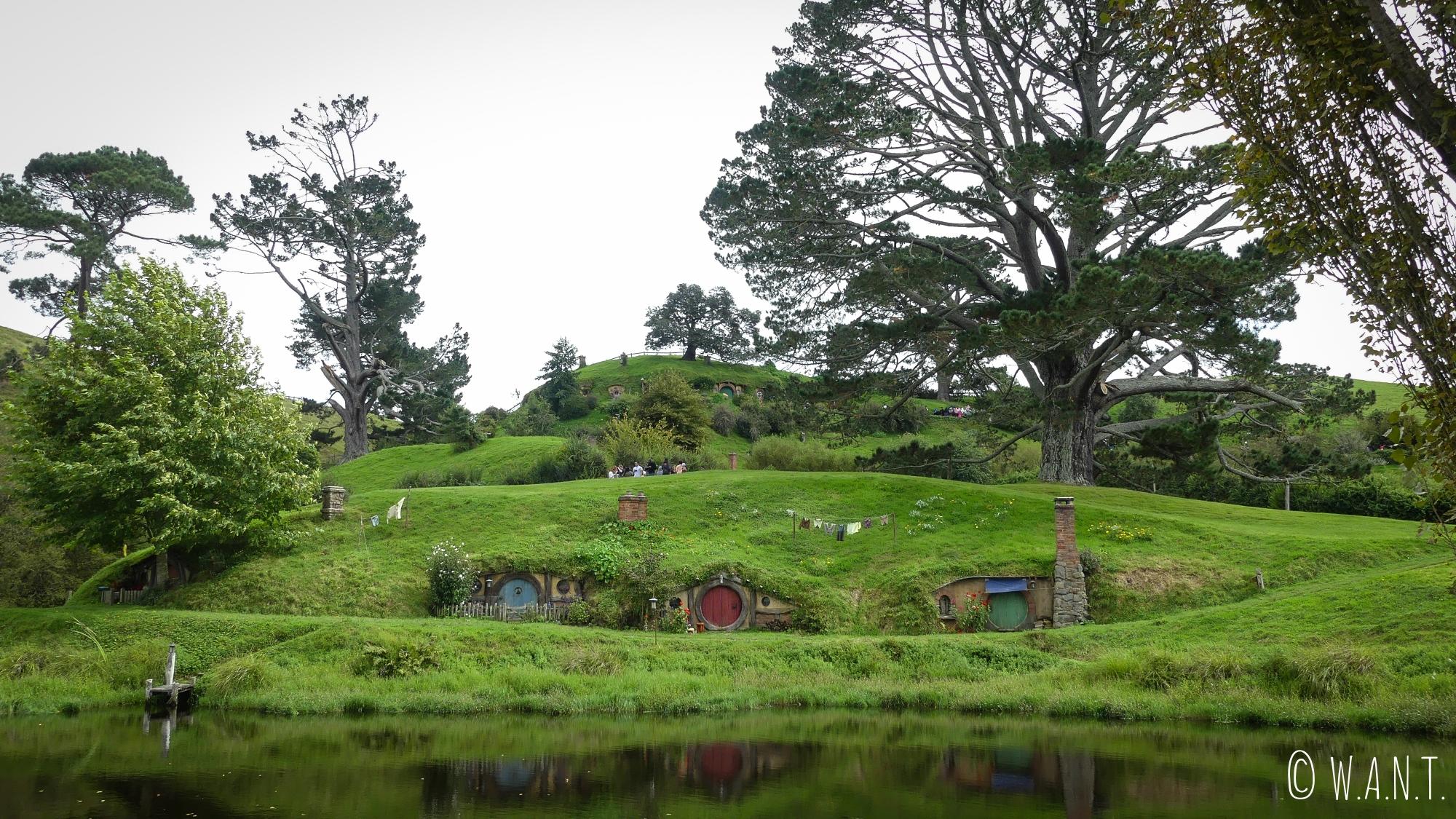Décor de Hobbiton en Nouvelle-Zélande