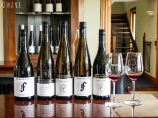 Dégustation de vins au domaine Framingham dans la région de Malborough Sounds en Nouvelle-Zélande