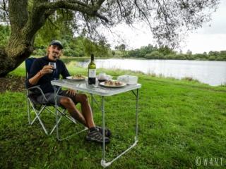 Dîner plus qu'agréable au camping d'Okaro Lake en Nouvelle-Zélande