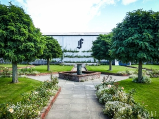 Entrée du domaine viticole Framingham dans la région de Malborough Sounds en Nouvelle-Zélande