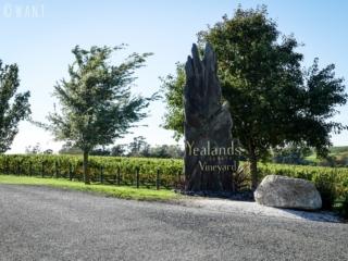 Entrée du domaine viticole Yealands dans la région de Malborough Sounds en Nouvelle-Zélande