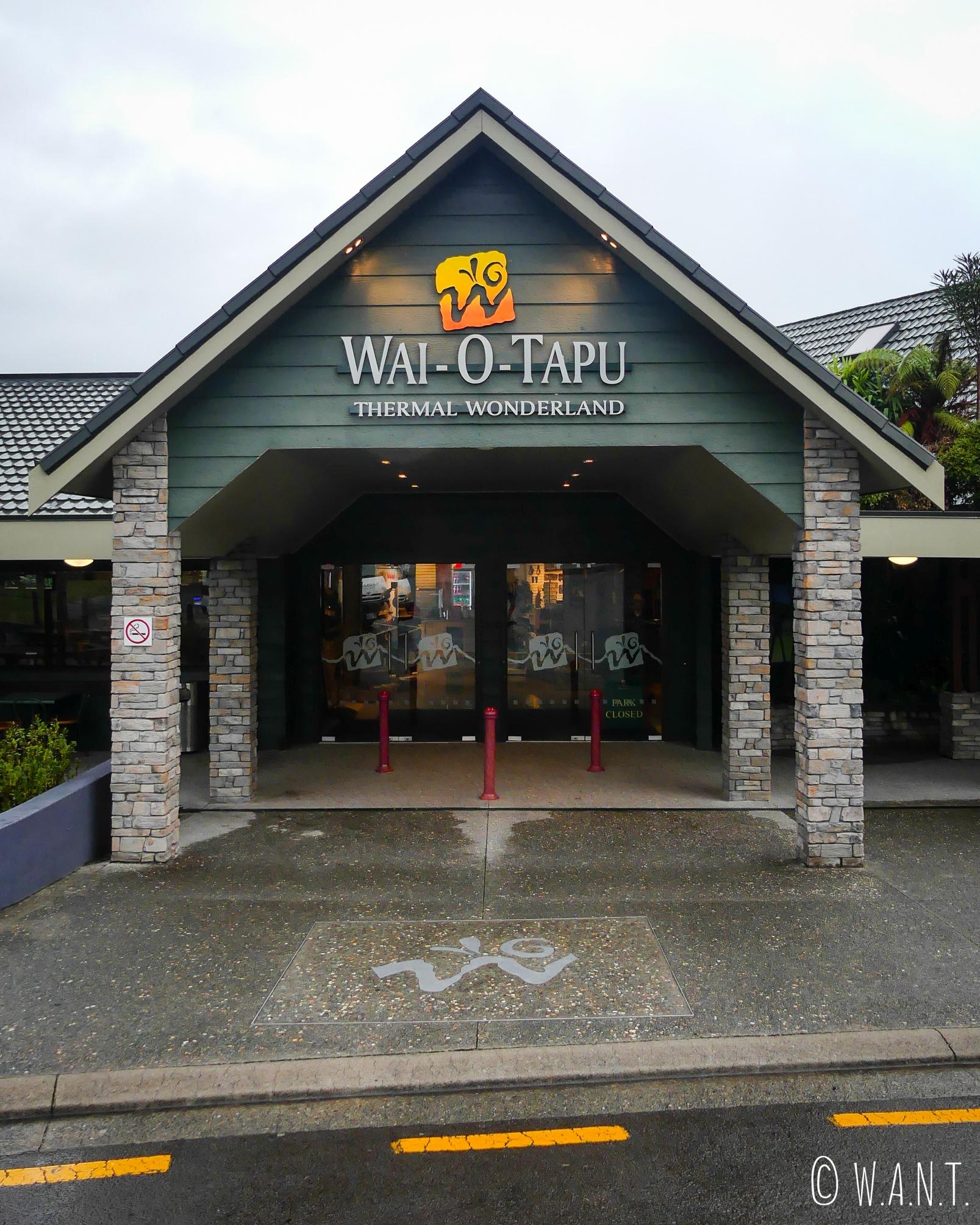 Entrée du site de Wai-O-Tapu en Nouvelle-Zélande