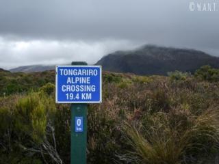 Kilomètre 0 de la randonnée « Tongariro Alpine Crossing » en Nouvelle-Zélande