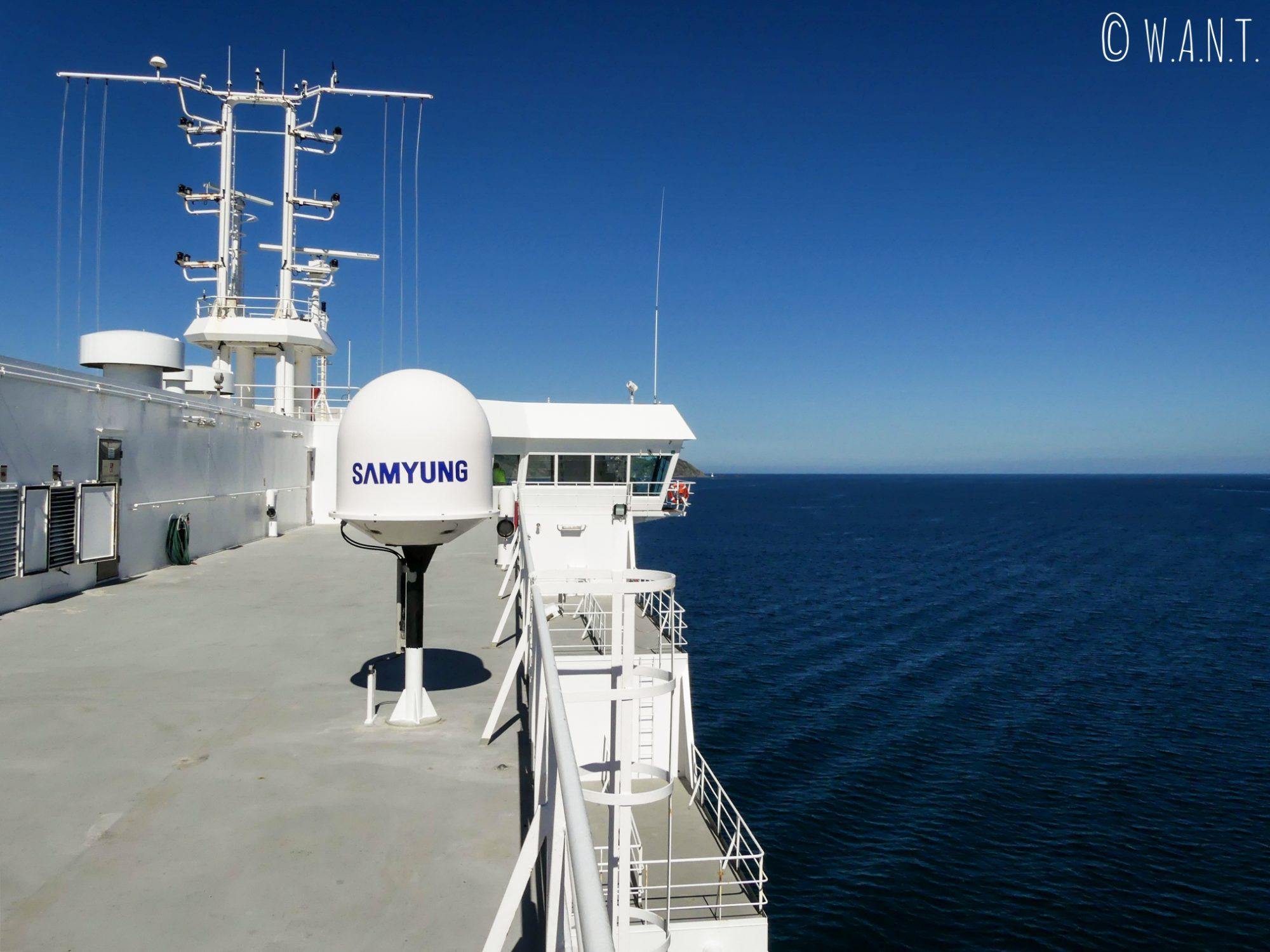 La traversée en ferry de l'île du nord à l'île du sud de la Nouvelle-Zélande est sublime