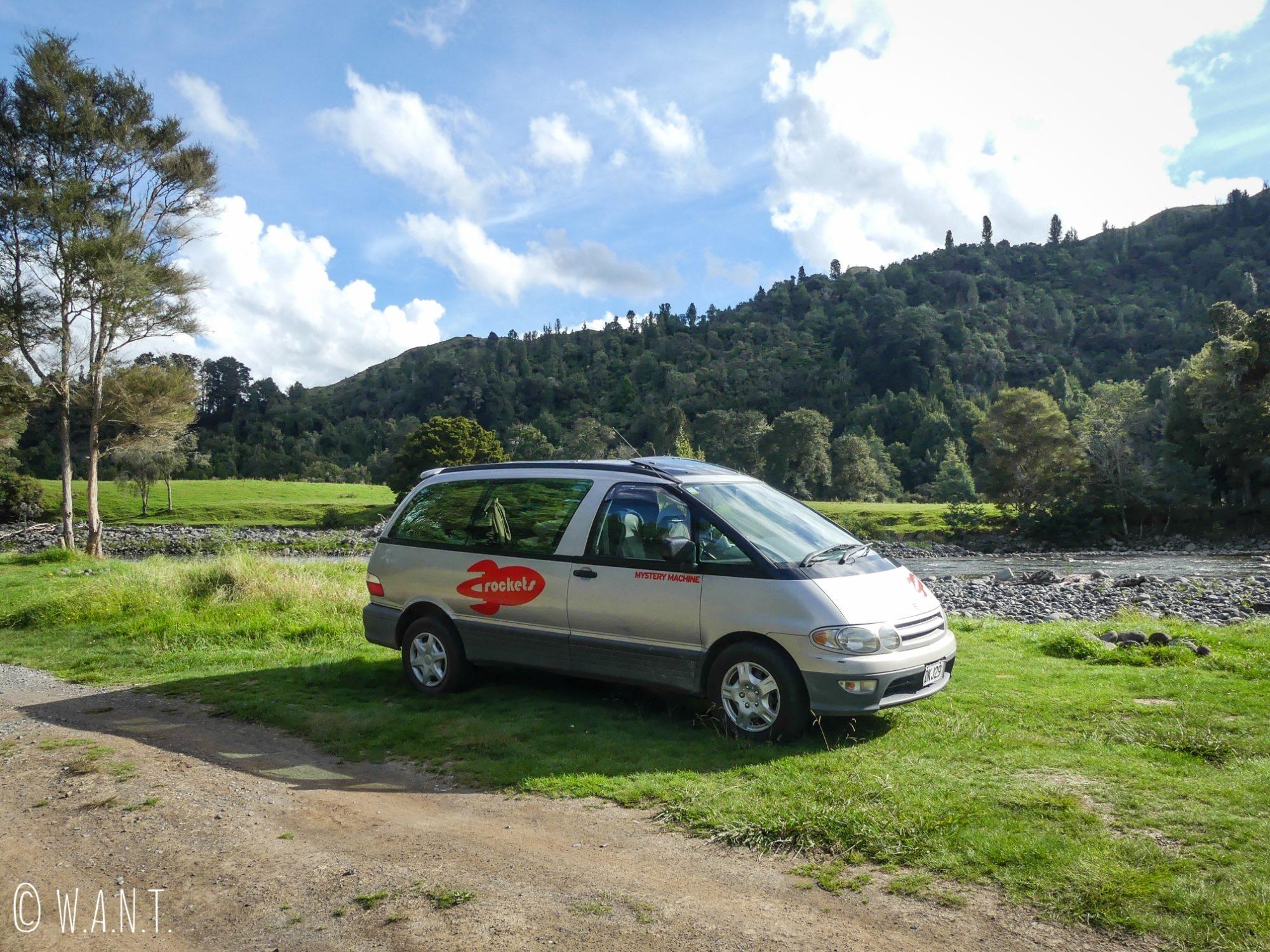 Le Ruatiti Domain est un camping en pleine nature, près de Tongariro en Nouvelle-Zélande