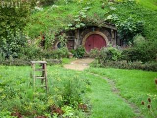 Maison de hobbit à Hobbiton en Nouvelle-Zélande