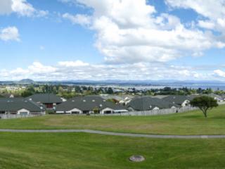 Panorama depuis les hauteurs de la ville de Taupo en Nouvelle-Zélande