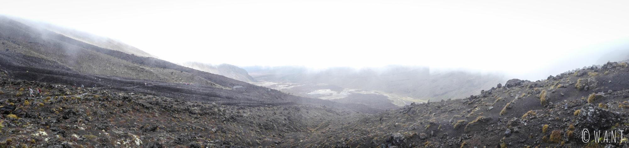 Panorama sur la randonnée « Tongariro Alpine Crossing » en Nouvelle-Zélande