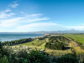 Panorama sur la route du camping Robin Hood dans la région de Malborough Sounds en Nouvelle-Zélande