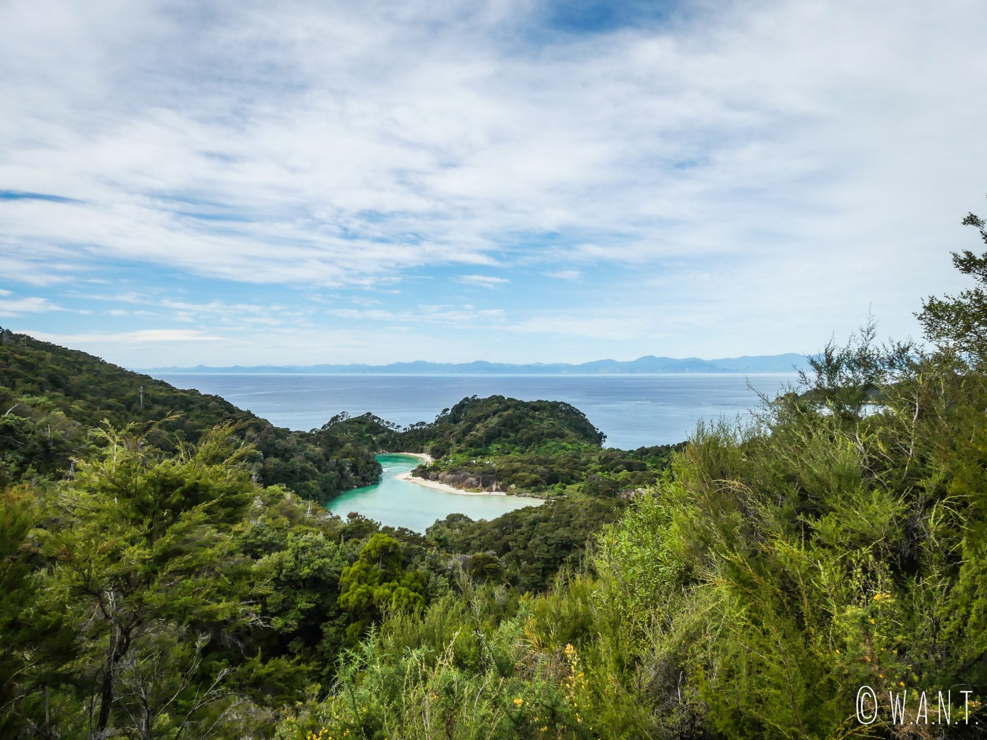 Paysage époustoufflant le long de la randonnée Abel Tasman Coast Track en Nouvelle-Zélande