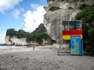 Plage de Mares Leg Cove, au pied de Cathedral Cove en Nouvelle-Zélande