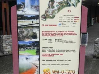 Plusieurs parcours sont disponibles sur le site de Wai-O-Tapu en Nouvelle-Zélande