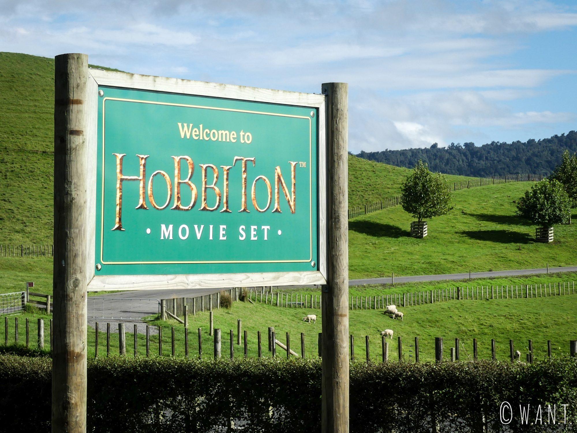 Pour Benjamin qui est fan du Seigneur des Anneaux, il était impensable de louper la visite du village de Hobbiton, sur l'île du nord de la Nouvelle-Zélande