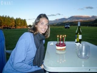 Quoi de mieux pour un dîner d'anniversaire que de souffler ses bougies avec en arrière-plan le massif du Tongariro