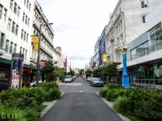 Rue du centre-ville de Wellington