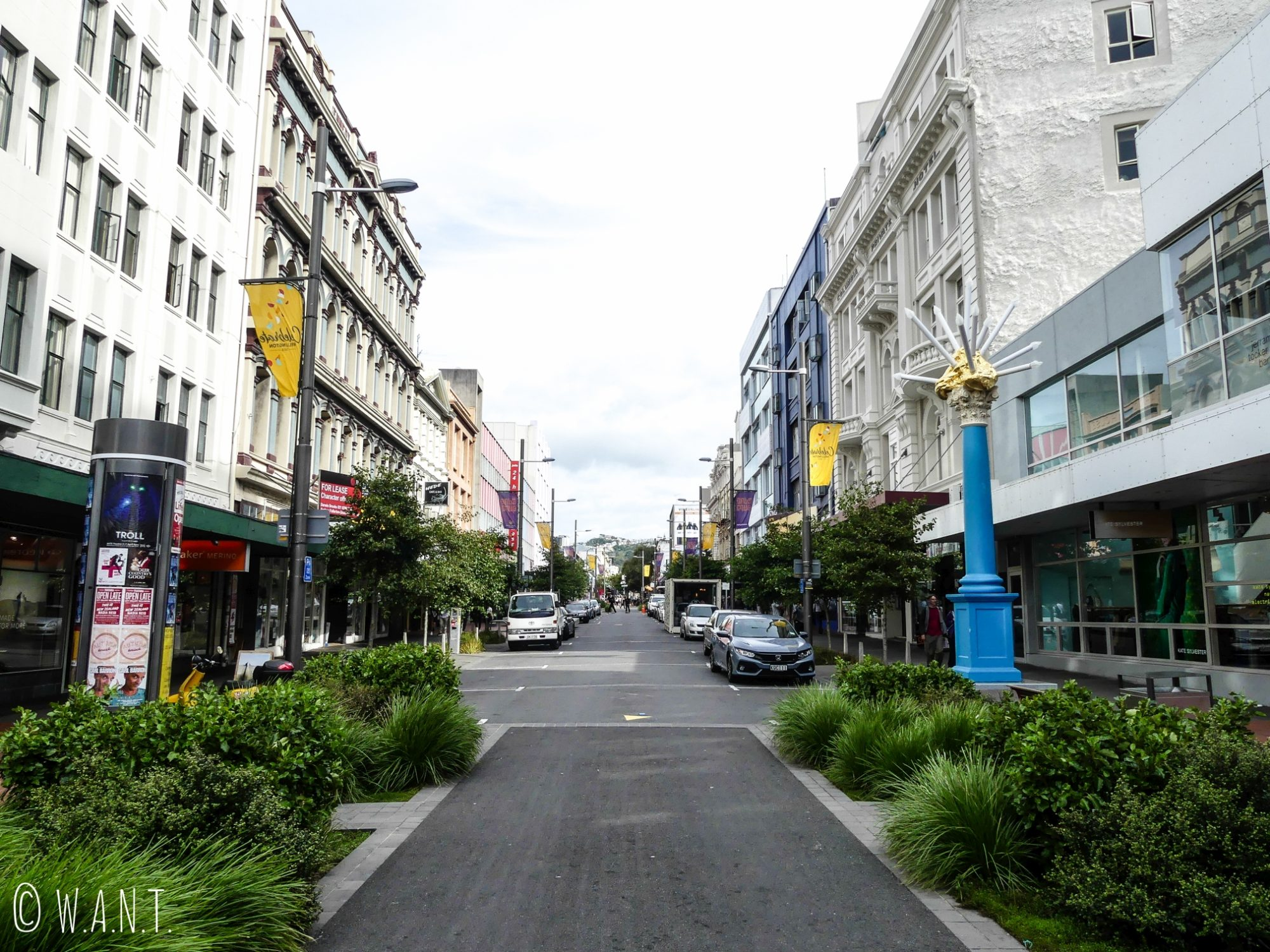 Rue du centre-ville de Wellington