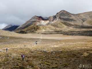 Sublime vue sur le Red Crater durant la randonnée « Tongariro Alpine Crossing » en Nouvelle-Zélande