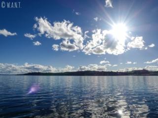 Vue depuis le lac Taupo en Nouvelle-Zélande