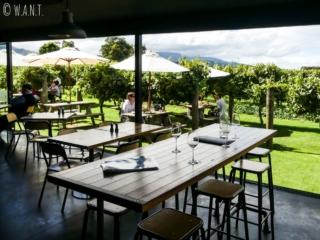 salle de restauration du domaine viticole Saint Clair dans la région de Malborough Sounds en Nouvelle-Zélande
