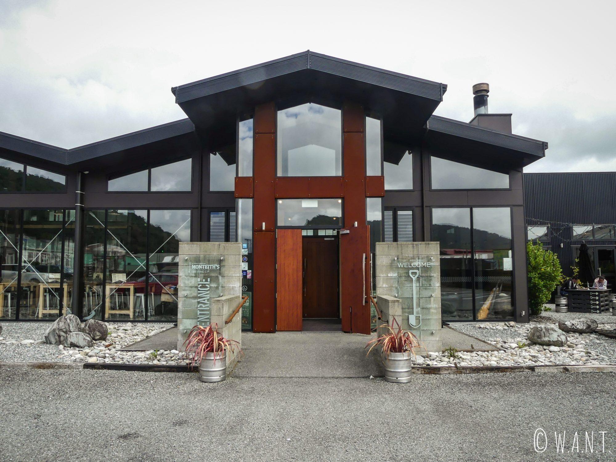 Brasserie Monteith's à Greymouth en Nouvelle-Zélande