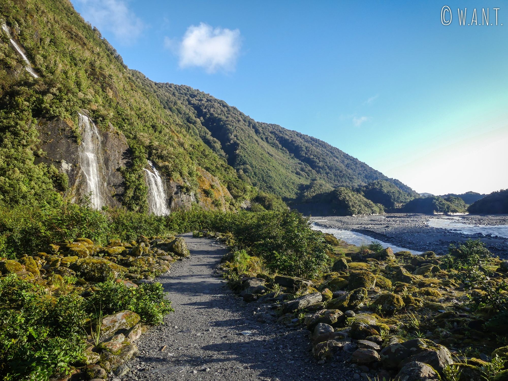 Chemin de randonnée du Franz Joseph Glacier en Nouvelle-Zélande