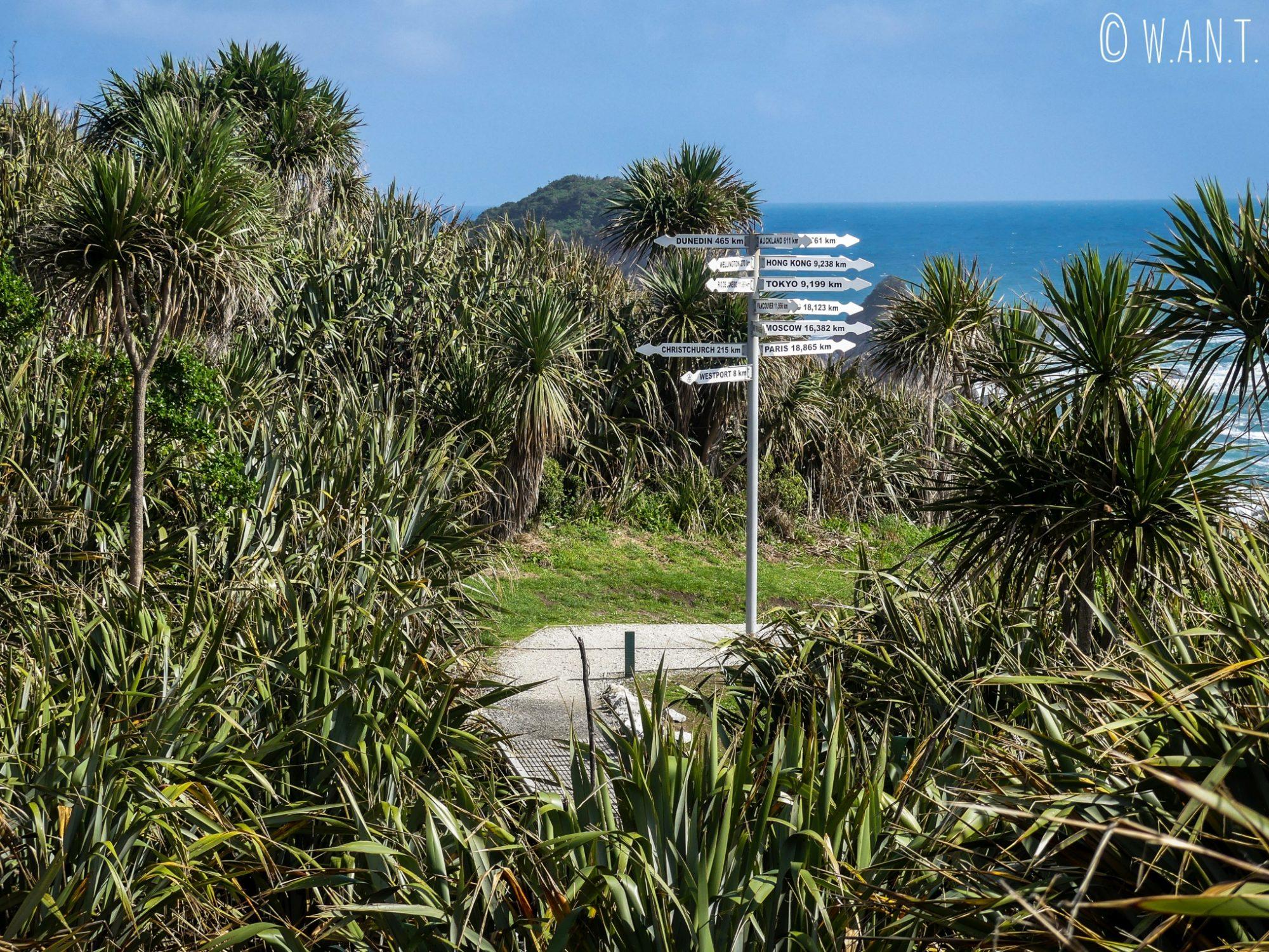 Nous avons l'impression d'être au bout du monde au Cape Foulwind en Nouvelle-Zélande