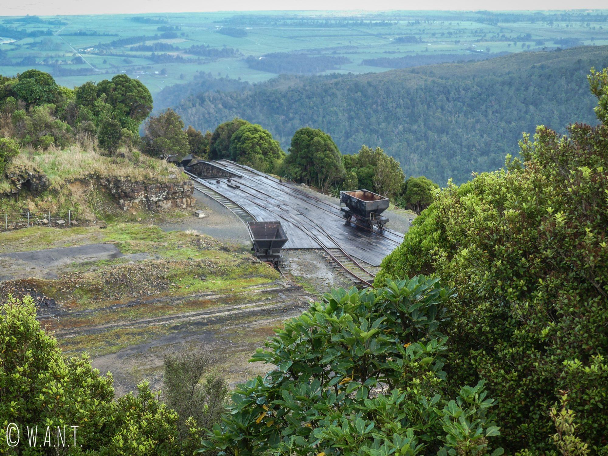 Passé minier de la ville de Denniston en Nouvelle-Zélande