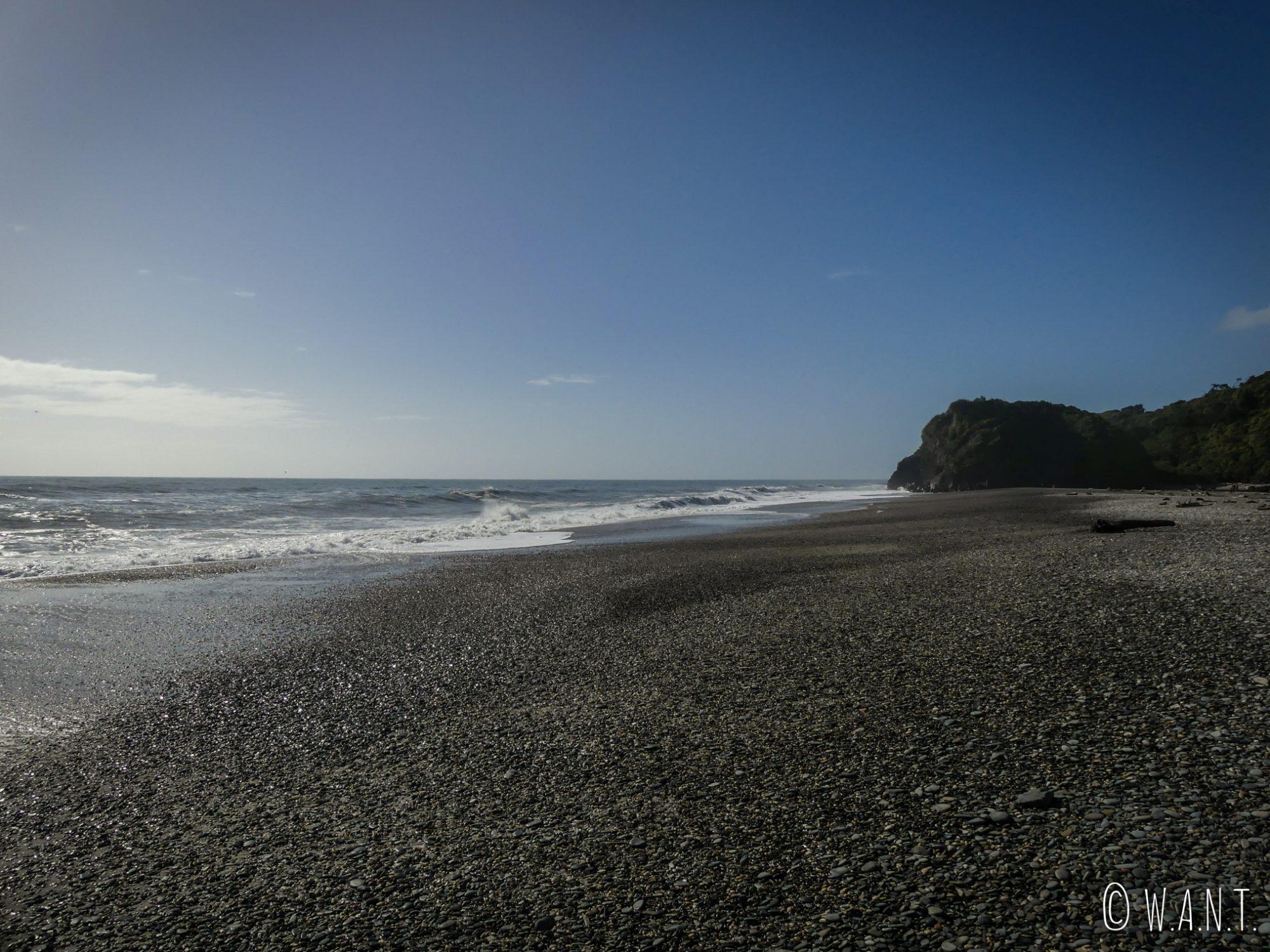 Plage de Ship Creek Beach sur la côte ouest de l'île du sud de la Nouvelle-Zélande