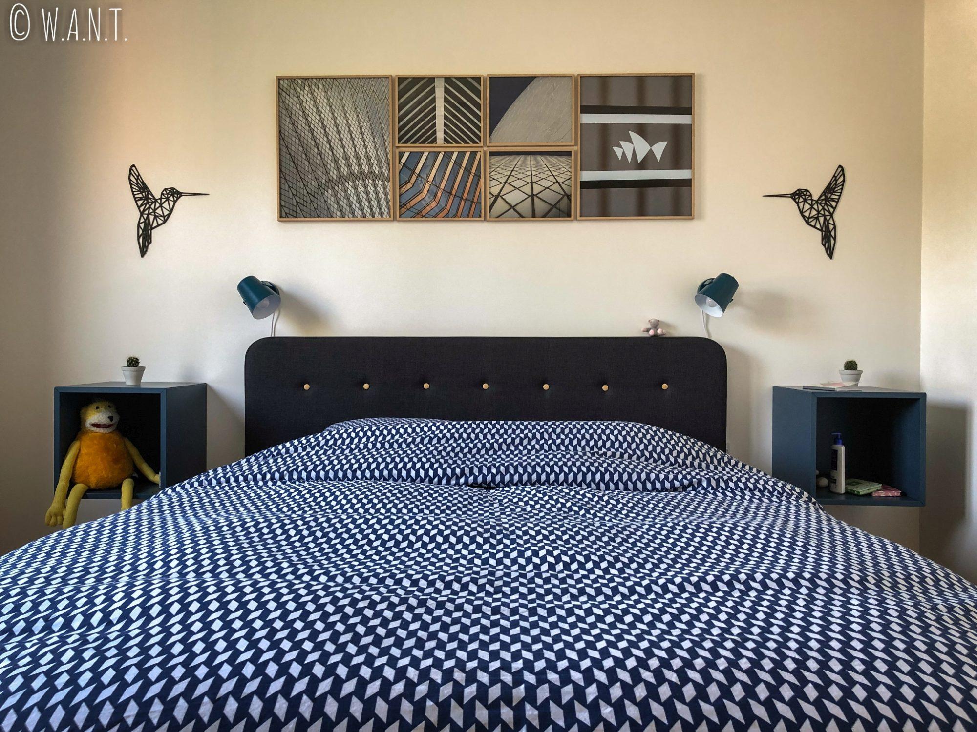 La chambre de notre appartement de Yerres