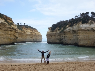 Morgane et Tom sur la Great Ocean Road en Australie
