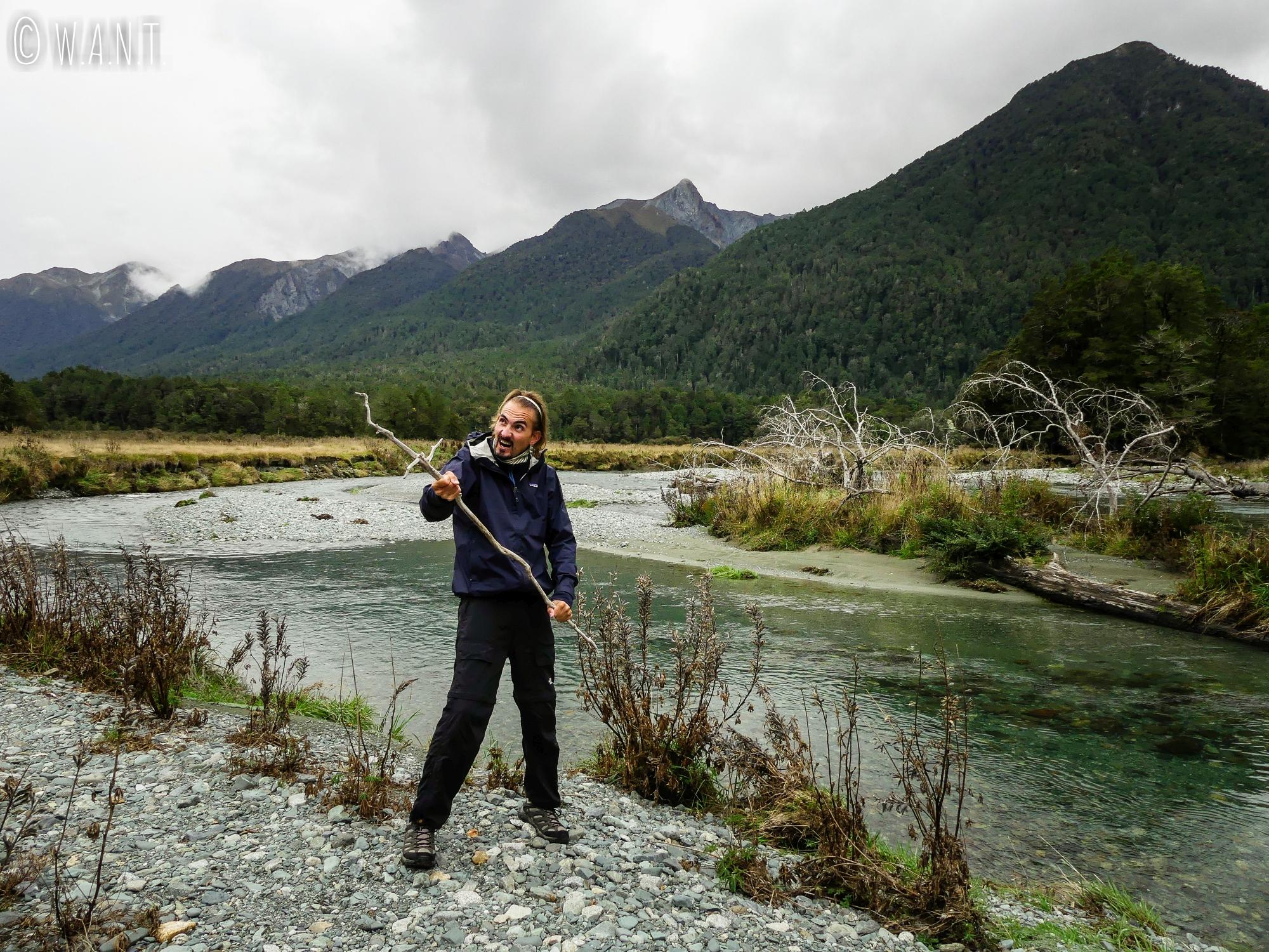 Le paysage du Deer Flat Camping en Nouvelle Zélande inspire Benjamin