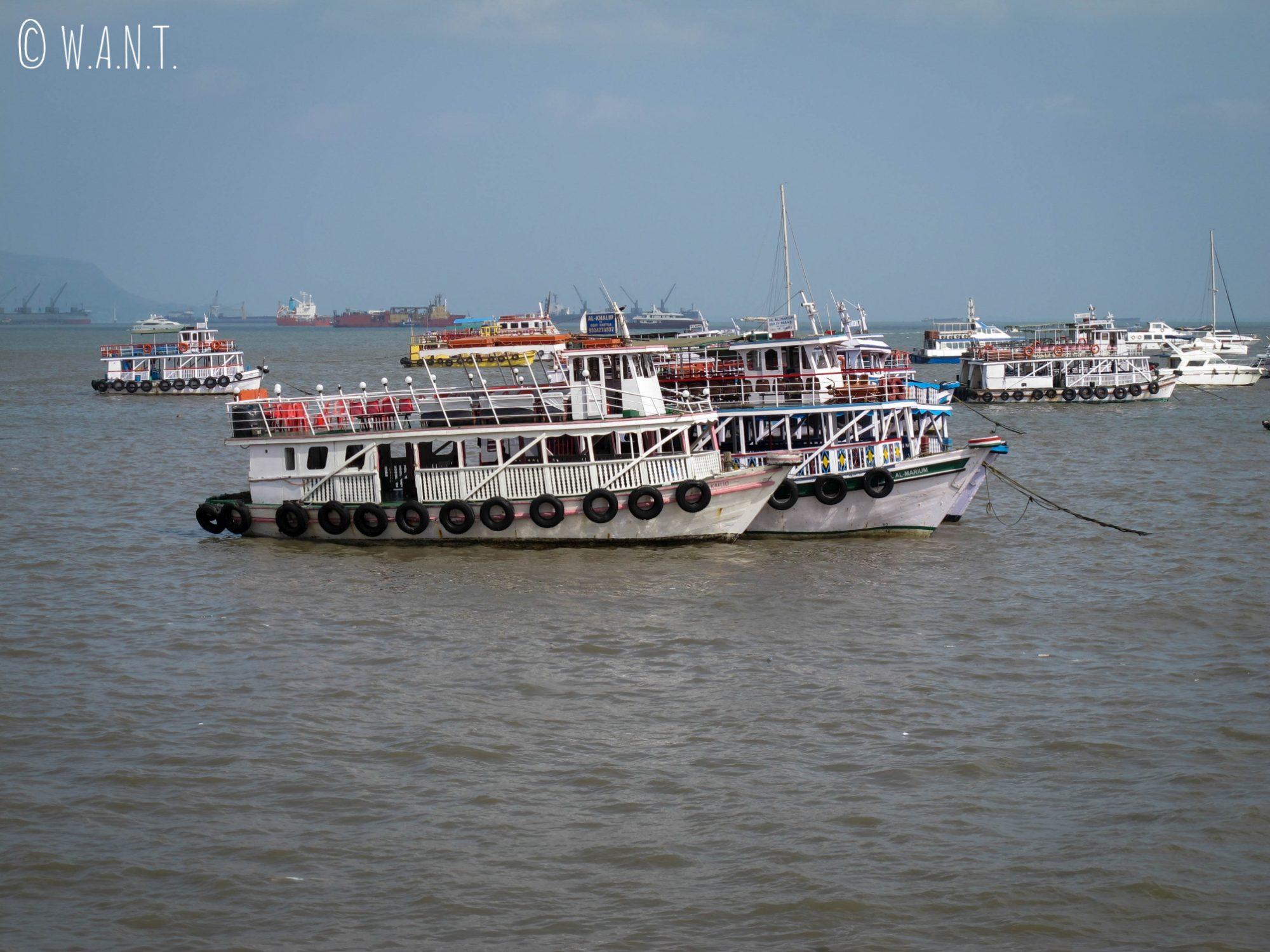 Depuis la Porte de l'Inde, il est possible de rejoindre Elephanta Island