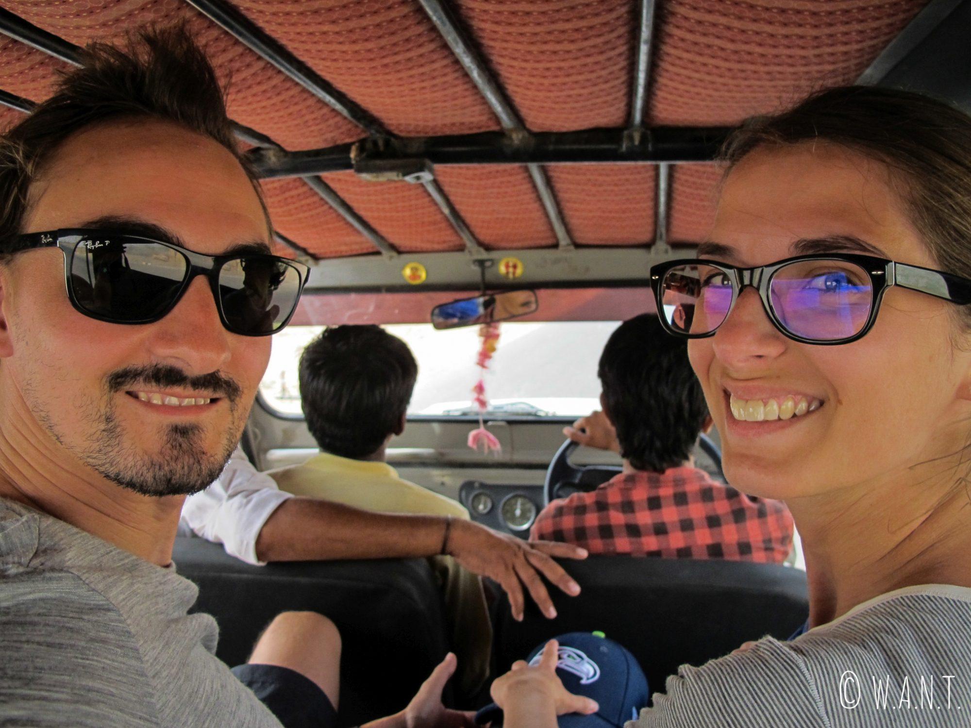 En route pour notre safari dans le désert du Thar