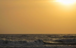 Nous aurons pu profiter chaque soir d'un coucher de soleil sur la mer arabique