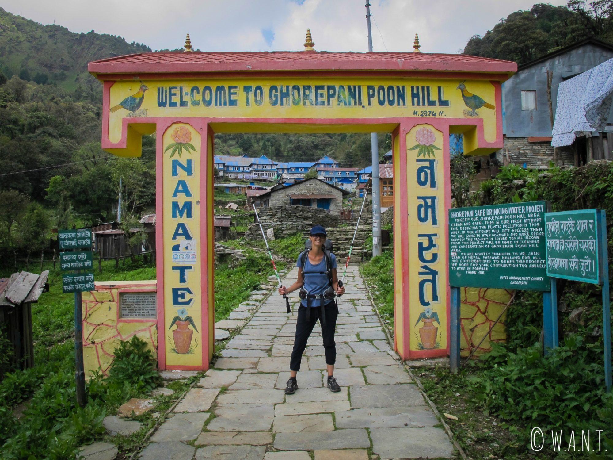 Arrivée au village de Ghorepani après notre deuxième jour de marche