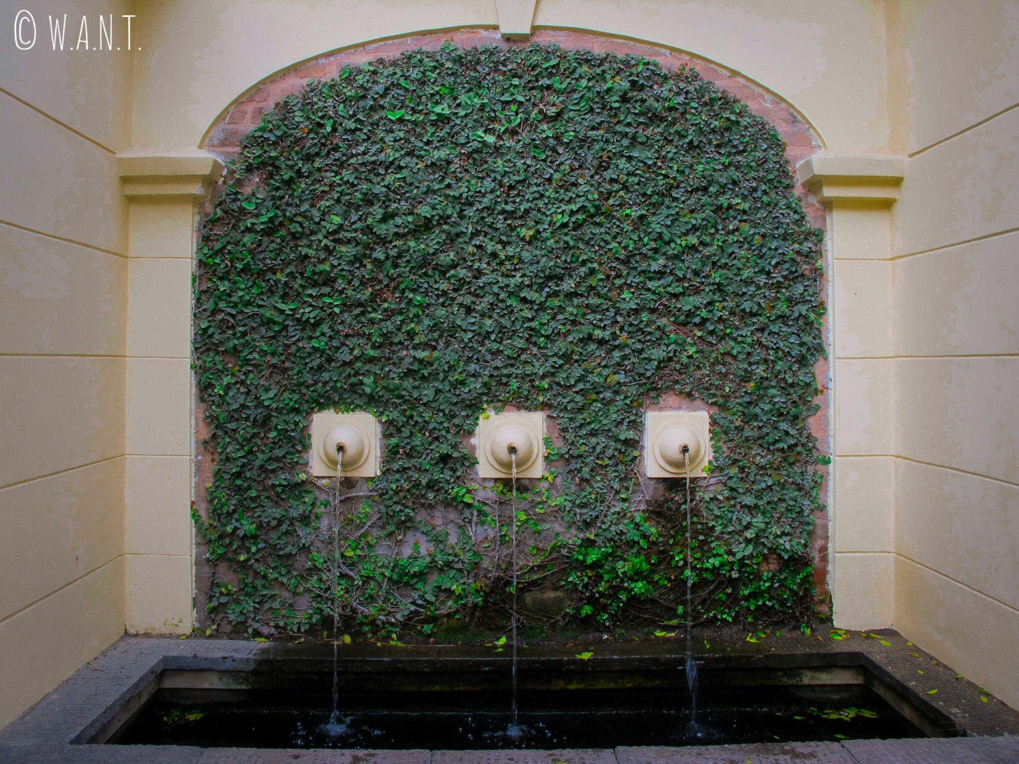 Le Garden of Dreams est un havre de paix où seuls les bruits des fontaines et des oiseaux résonnent