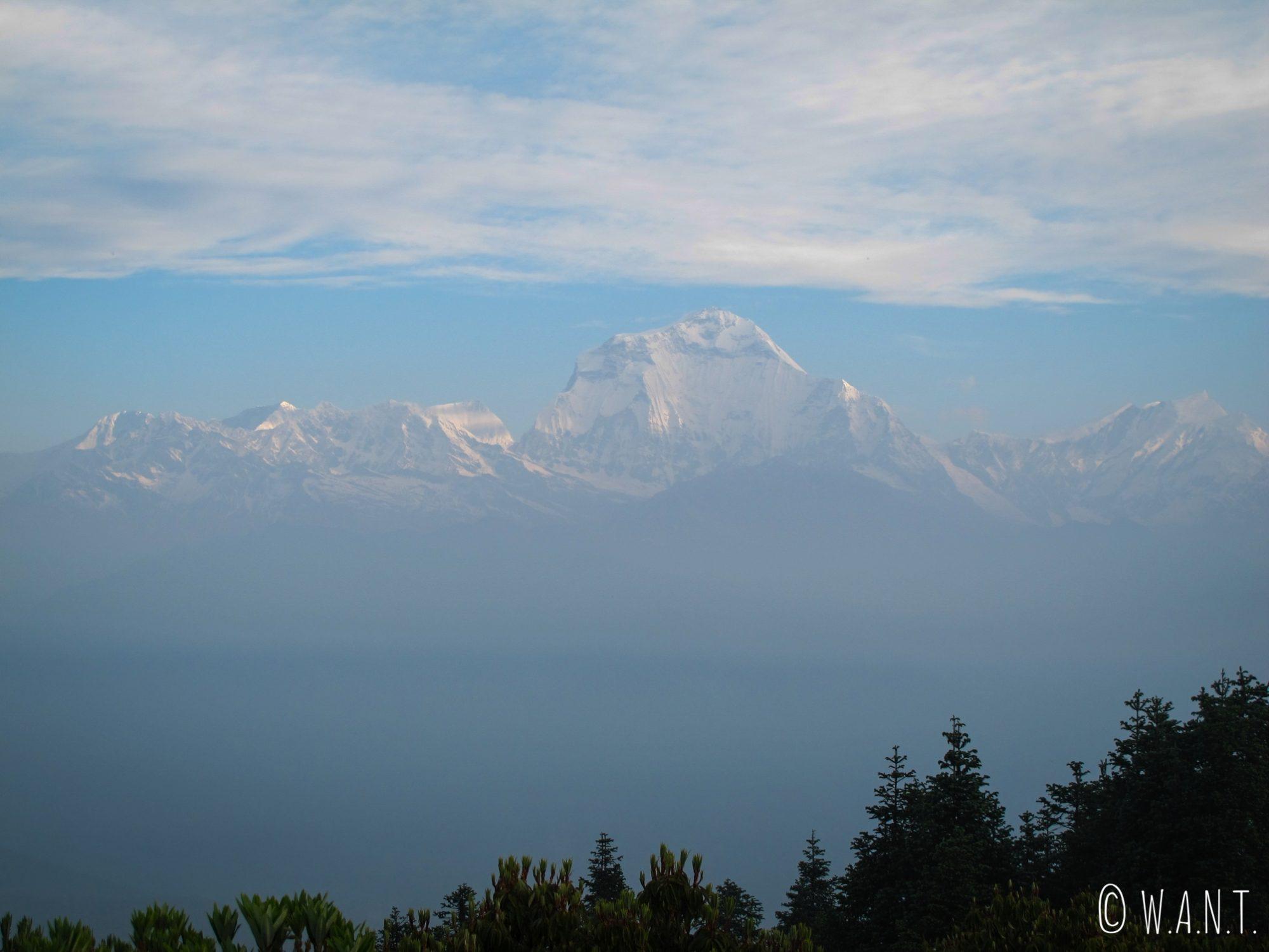 Nous avons eu la chance d'admirer le Dhaulagiri depuis Poon Hill pendant quelques instants