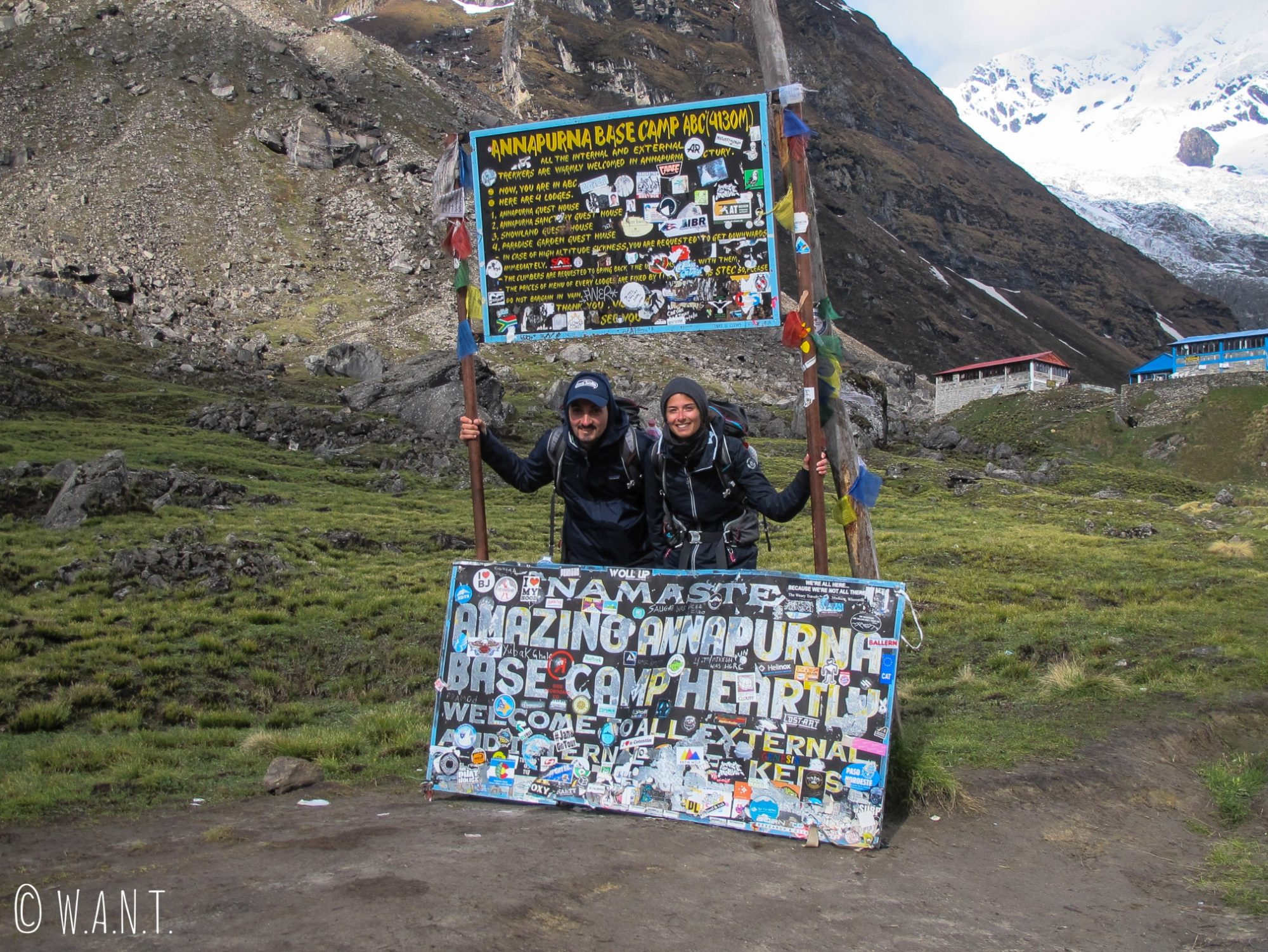 Nous ne sommes pas peu fiers d'être arrivés jusqu'au Camp de Base de l'Annapurna
