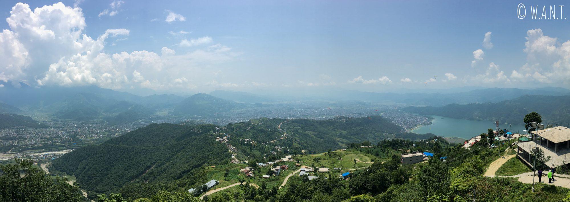 Panorama depuis la colline de Sarangkot