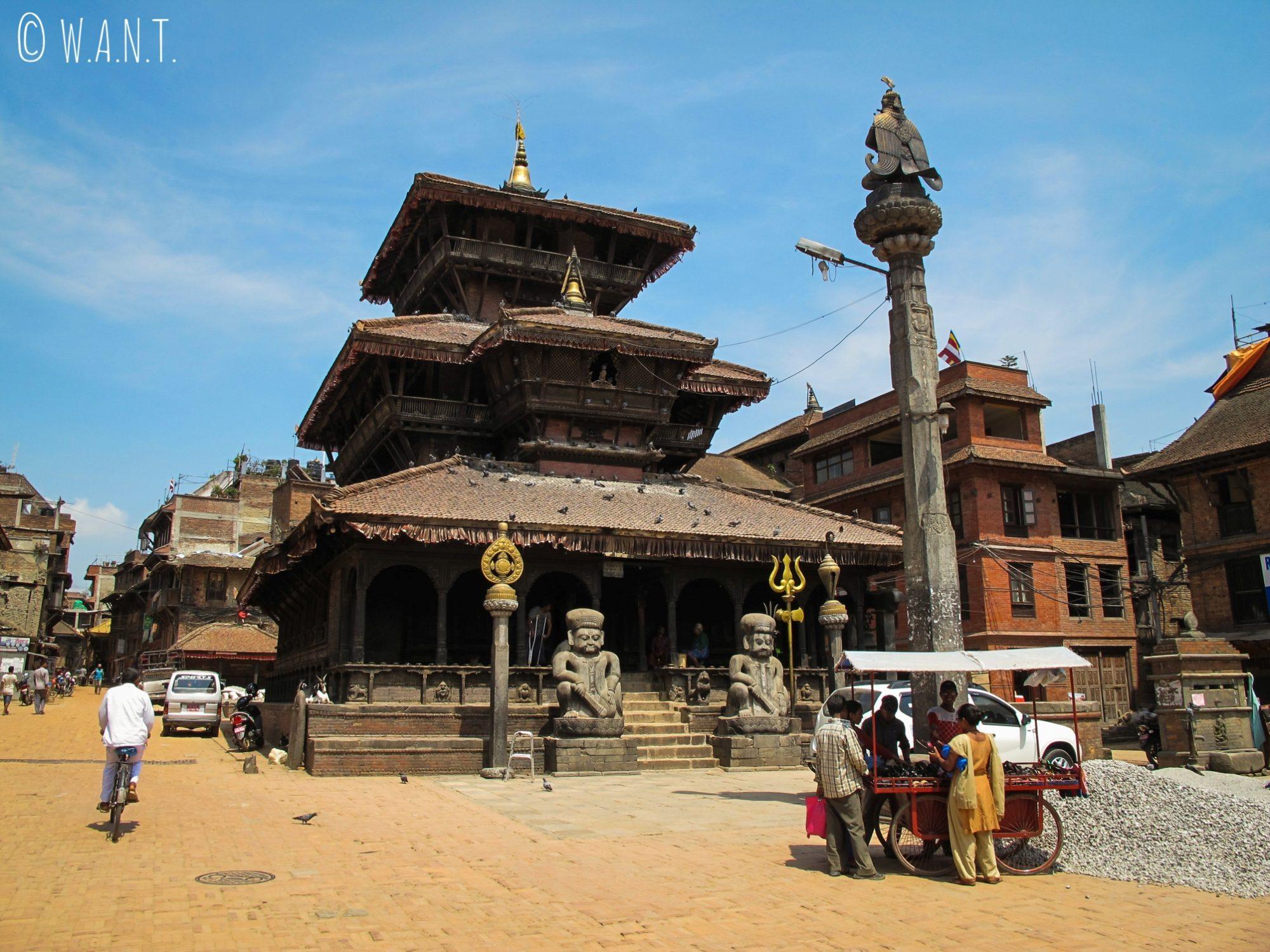 Plus ancien temple de la ville situé sur la place Dattatraya de Bhaktapur