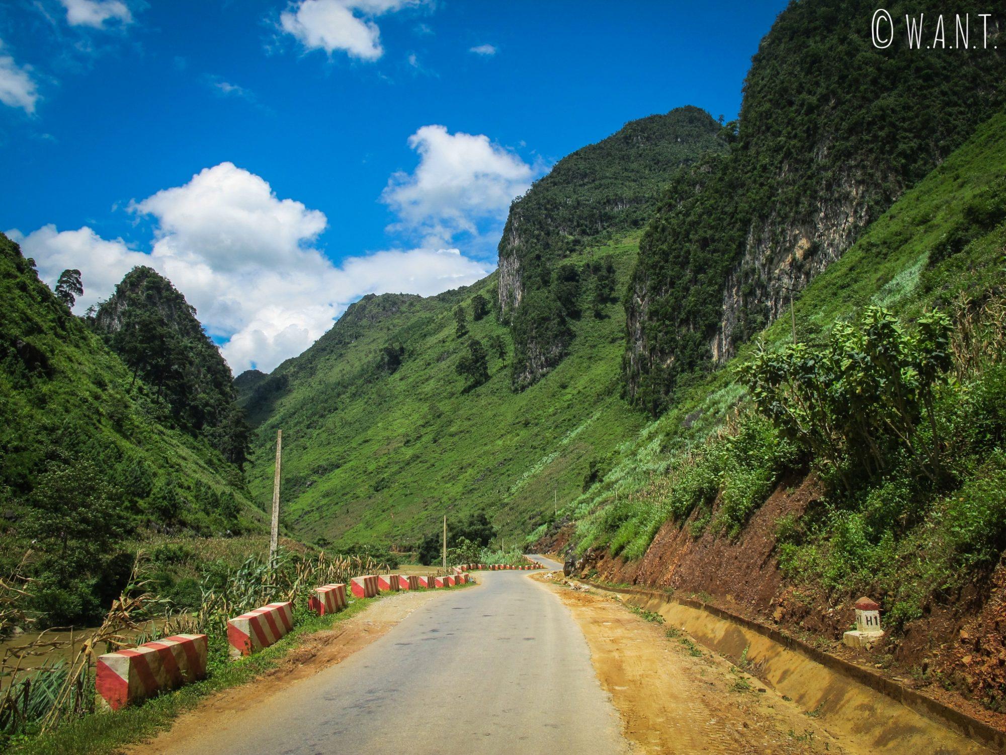 Route entre Ha Giang et Yen Minh