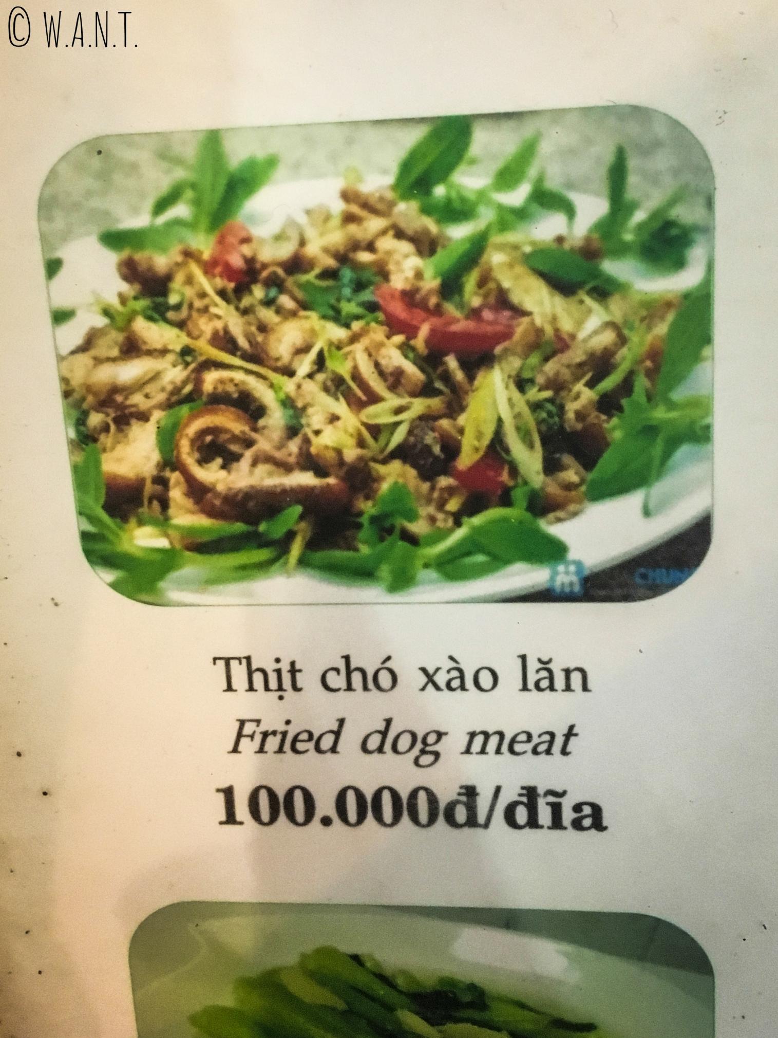 Pour preuve que le défi de manger du chien a bien été réalisé