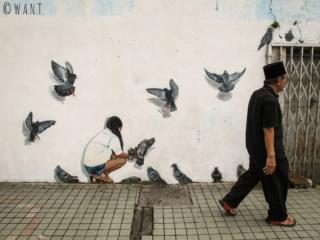 L'art de rue est très présent dans le centre-ville de Kuching