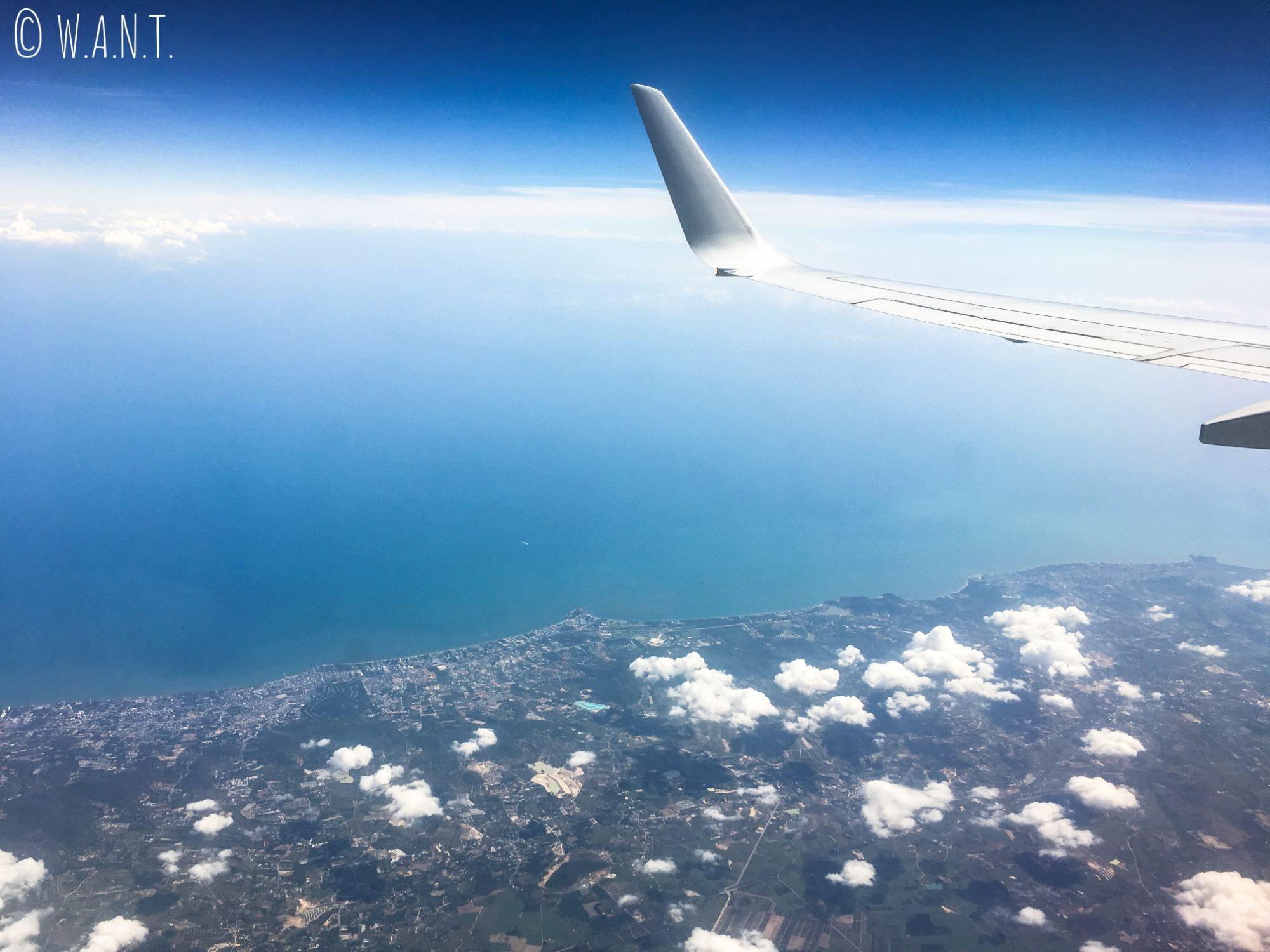 Vue dans l'avion qui nous mène à Phuket