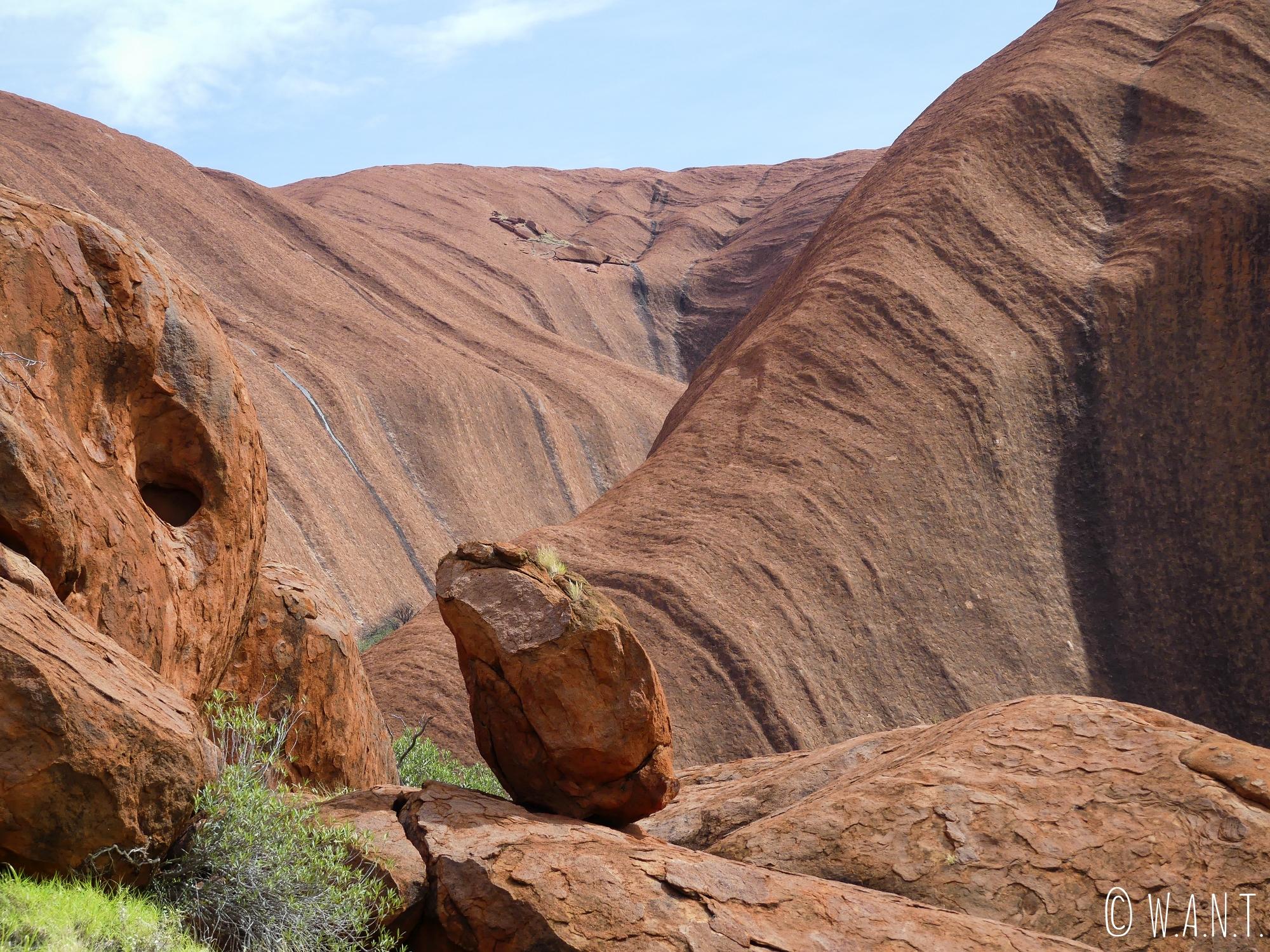 Pierre en équilibre à Uluru