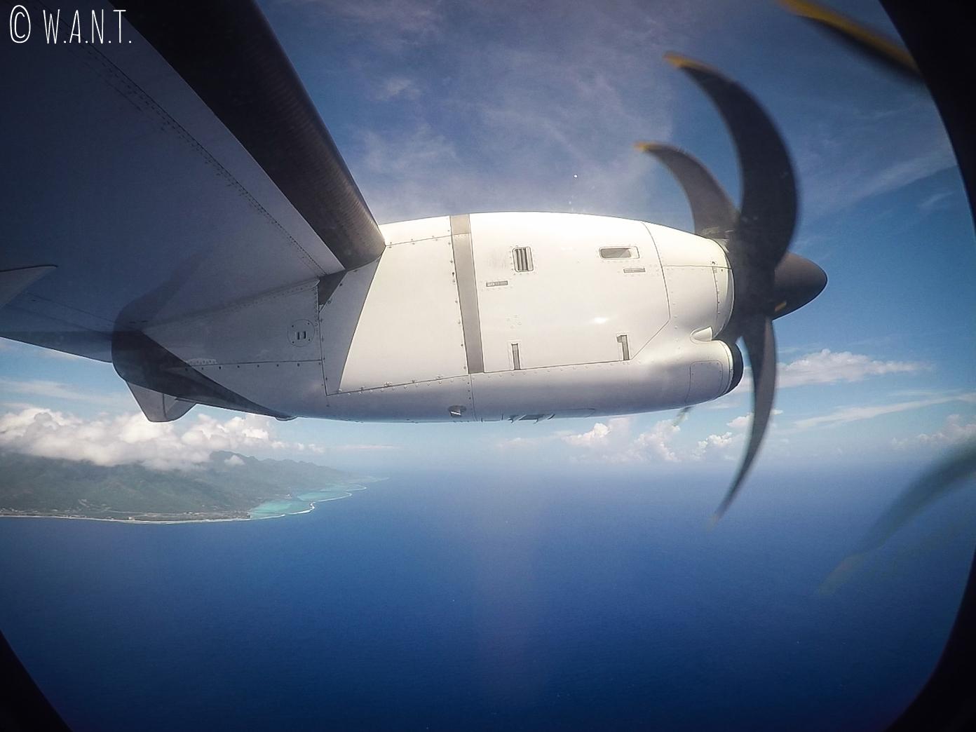 Départ de Huahine pour Papeete